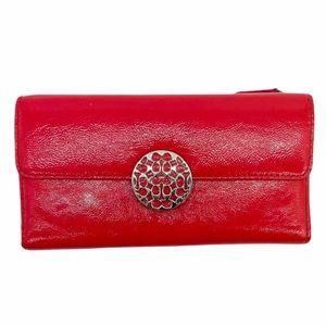 Coach Alex Patent Leather Envelope Wallet